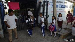 Mexican schoolchildren