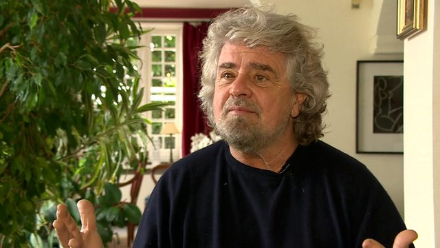 Politician Beppe Grillo