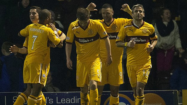 Motherwell were 2-1 winners against Celtic at Fir Park