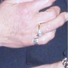 Close-up of the stolen ring