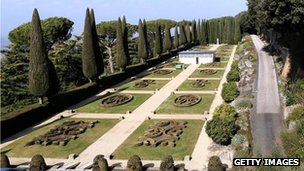 Garden at Castel Gandolfo (20 Feb)