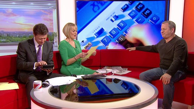 Louise Minchin and Charlie Stayt put Scott Flansburg to the test