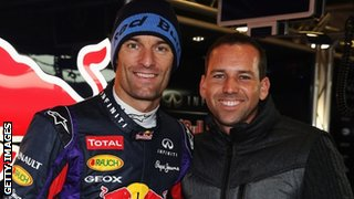 Mark Webber and Sergio Garcia