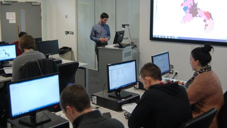 Staffordshire University classroom