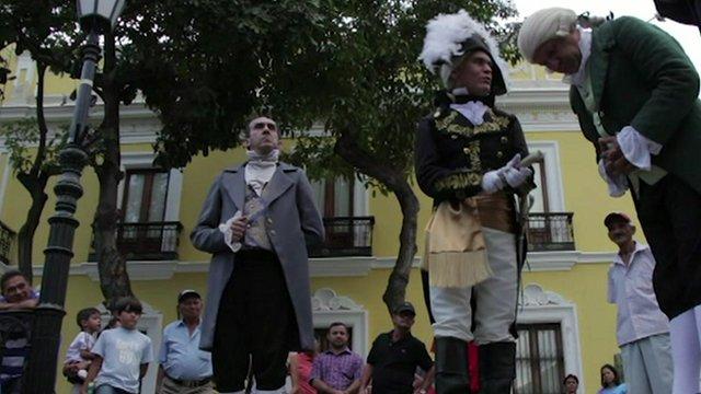 Historical actors in Caracas