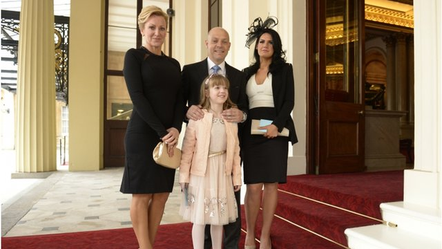 Sir David Brailsford and family