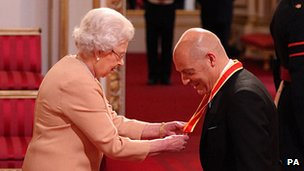The Queen and Sir David Brailsford