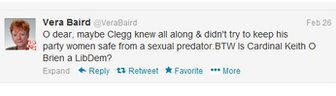Vera Baird's tweet