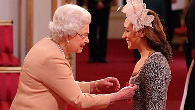 The Queen awards Jessica Ennis a CBE