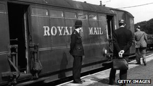 Police examine the train used in the Great Train Robbery