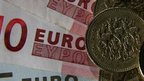Pounds and euros