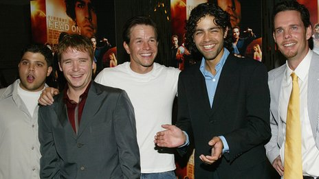 Mark Wahlberg with the cast of Entourage