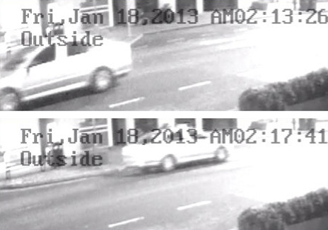 CCTV of Skoda Octavia car