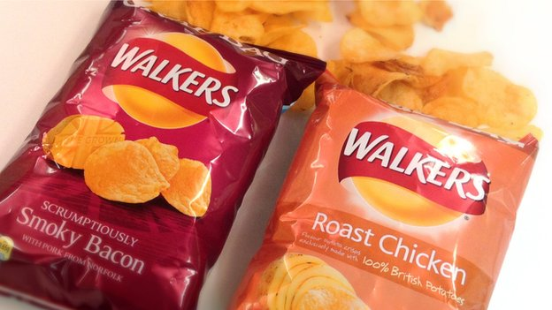 Walkers Smoky Bacon and Roast Chicken crisps