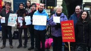 Protest at City of York