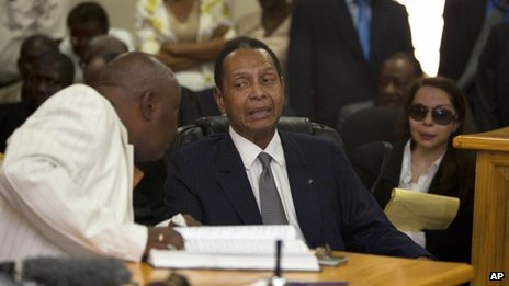 Jean-Claude Duvalier in court, 28 February