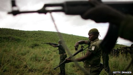 Congolese soldiers in eastern DR Congo. File photo