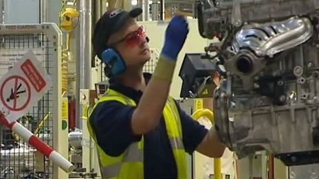 A worker at the Toyota plant in Deeside, Flintshire