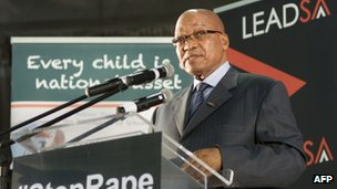 President Zuma at the launch of a Stop Rape in Schools Campaign on 28 February 2013