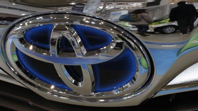 Toyota logo on car