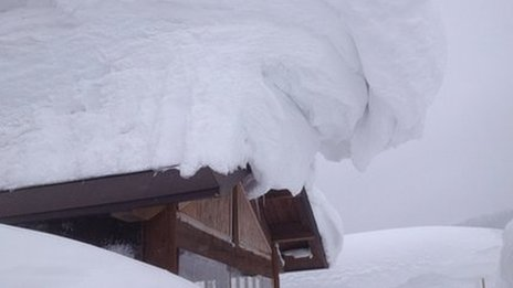 Record snow in northern Japan