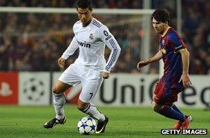 Christiano Ronaldo and Lionel Messi