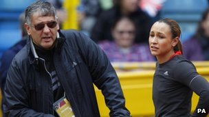 Jessica Ennis and trainer Toni Minichiello