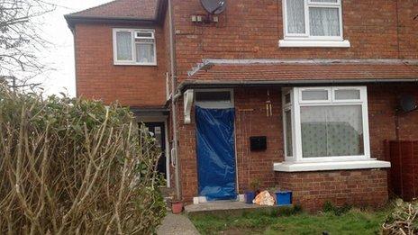 Market Drayton murder scene