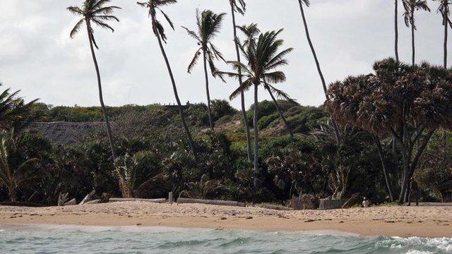 The beach near Kiwayu Safari village