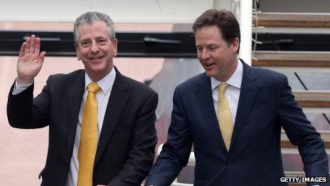 Mike Thornton and Nick Clegg