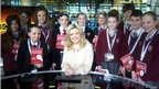 Reporters from three schools in Lancashire came to MediaCityUK for a presenting masterclass as part of their preparations for BBC School Report. They  are among pupils at more than 1,000 schools around the UK who are taking part in the School Report News Day on 21 March. 