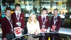 Pupils from St Aidens Church oF England Technology College, Preesall were among those who took part in the visit to the BBC&#039;s MediaCity building in Salford.