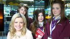 School Reporters from Fearns Community Sports College, Bacup were the final group to spend the day with Amelia. 