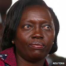 "Kenya""s presidential candidate Martha Karua attends a prayer rally in Kenya""s capital Nairobi February 24, 2013."