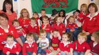 Children from the Creche at Withybush Hospital in Haverfordwest