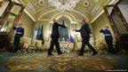 Francois Hollande and Vladimir Putin