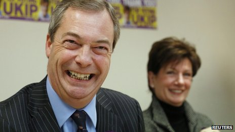 Nigel Farage and Diane James