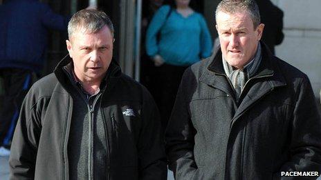 Sean Gerard Hughes and Sinn Fein MP Conor Murphy