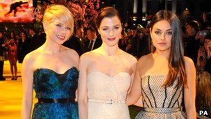 Michelle Williams, Rachel Weisz and Mila Kunis