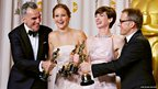 Daniel Day-Lewis, Jennifer Lawrence, Anne Hathaway and Christoph Waltz