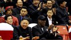North Korean leader Kim Jong-un and former NBA star Dennis Rodman