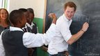 Prince Harry learns sign language as he visits Kananelo Centre for the deaf