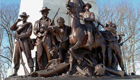 A memorial at Gettysburg