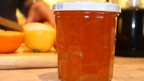 Marmalade and juicing in background