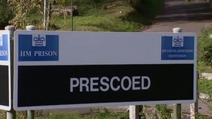 HMP Prescoed sign