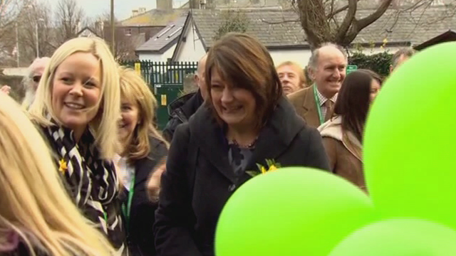 Leanne Wood is welcomed to Anglesey