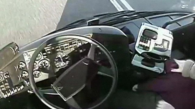 CCTV picture after driver passes out