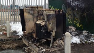 Vandalised substation