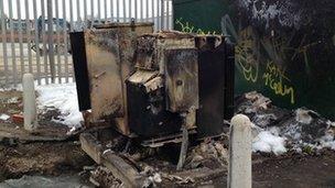 Vandalised substation