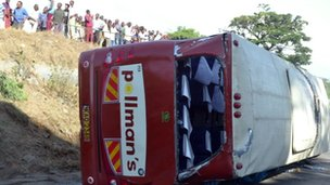 Mombasa coach crash